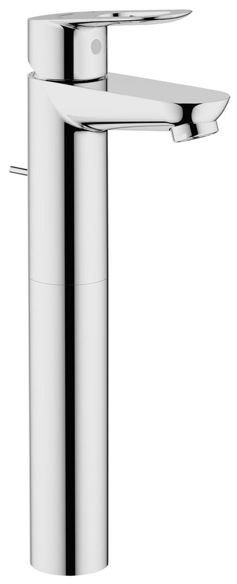 Смеситель для раковины Grohe BauLoop68/5/4Смеситель для раковины Grohe сочетает в себе отличные эксплуатационные характеристики и оригинальный дизайн. Керамический картридж 28 мм - надежный рабочий элемент. Тело смесителя отлито из высококачественной, безопасной для здоровья пищевой латуни. Хромированное покрытие придает изделию яркий металлический блеск и эстетичный внешний вид. Смеситель Grohe эргономичен, прост в монтаже и удобен в использовании.