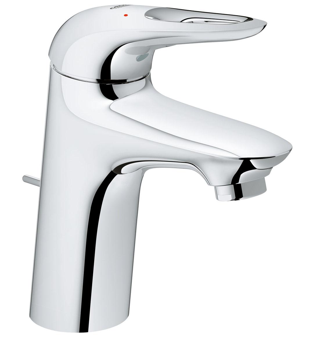 Смеситель для раковины Grohe Eurostyle New, с донным клапаном68/5/1Этот однорычажный смеситель Grohe Eurostyle New легок и интуитивно понятен в использовании, что делает его идеальным решением для семейных ванных комнат со стандартными раковинами. Также он имеет встроенную водосберегающую технологию. Если вы ищете смеситель для ванной, который соответствует чистому современному дизайну, этот моноблочный смеситель Grohe Eurostyle New станет идеальным выбором для вас, с его множеством полезных функций, включая SilkMove для плавной работы картриджа смесителя и водосберегающую технологию EcoJoy. Предназначенная для легкого и быстрого монтажа на одно отверстие, эта модель идеально подойдет для вас.