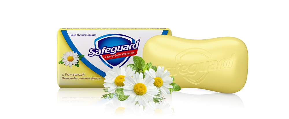 Safeguard Антибактериальное мыло Ромашка, 90 г