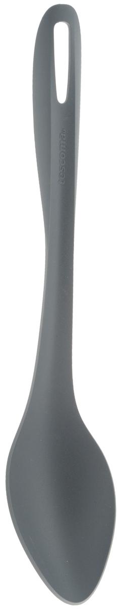 Ложка Tescoma Virtuoso, длина 33 см. 63811668/5/4Ложка Tescoma Virtuoso изготовлена из высококачественного термостойкого нейлона, устойчивого к 230°С. Ложка прекрасно подходит для порционной сервировки и перемешивания во время готовки горячих блюд и гарниров - различных рагу, ризотто и прочих блюд. Изделие безопасно для всех видов посуды, отлично подходит для посуды с антиадгезионным слоем. Ручка снабжена специальным отверстием для подвешивания на крючок. Изделие можно мыть в посудомоечной машине. Длина ложки: 33 см. Размер рабочей части: 11 х 6,5 см.