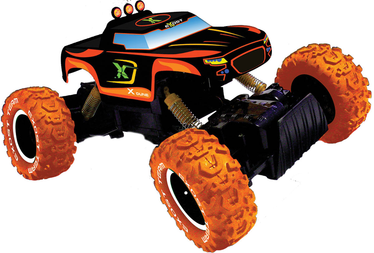Высокотехнологичные и уникальные игрушки Silverlit – долгожданный подарок для детей от 3 до 10 лет. Хотите увидеть, как ваш мальчишка прыгает от радости? Подарите ему машину «Икс Дюн» Silverlit на радио управлении – его счастью не будет предела. Проверьте сами! Мощный гоночный внедорожник 4х4 – просто мечта для игрового ралли! Особенности: космический дизайн, масштаб 1:12, съёмный корпус, небольшой кузов, огромные внедорожные шины с чётким протектором, усиленная подвеска - амортизаторы ходовых осей, высокоскоростной мотор. «Икс Дюн» легко управляется с помощью пульта (радиус действия – 20 м), отлично держит сцепление с любой поверхностью (деревянный пол, линолеум, плитка, асфальт, песок) и достигает скорости 10 км/ч. Ваш мальчик сможет устраивать гонки с друзьями и дома, и на улице! Корпус выполнен из высокопрочного пластика – модель «Икс Дюн» Silverlit долго будет радовать ребенка. В набор входят: машинка, пульт р/у. Дополнительно вам понадобятся батарейки АА. ...
