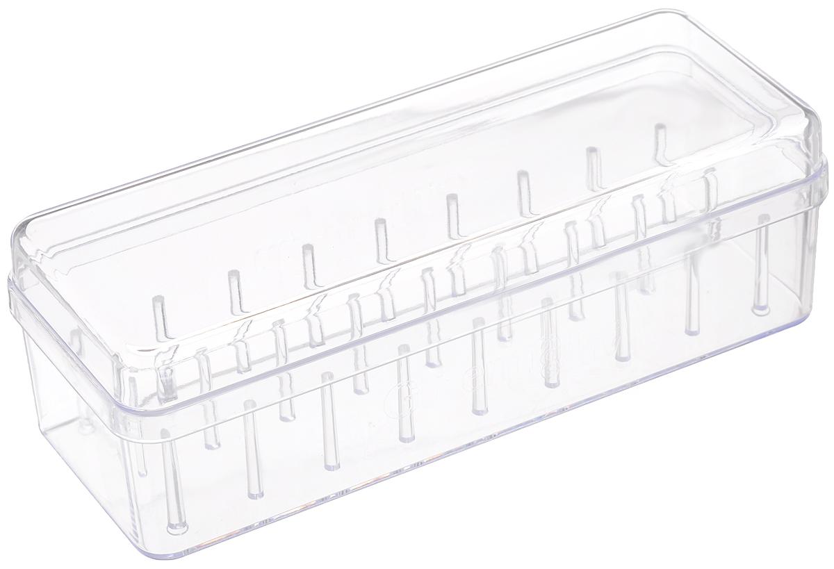 Органайзер для хранения ниток Gutermann, на 27 катушек, 20 x 7,8 x 6,5 см7713426/728179Органайзер Gutermann изготовлен из пластика и оснащен специальными держателями для катушек с нитками.Этот замечательный органайзер прекрасно подходит для хранения рукоделия и мелких предметов, которые всегда должны быть под рукой.Размер органайзера: 20 х 7,8 х 6,5 см.