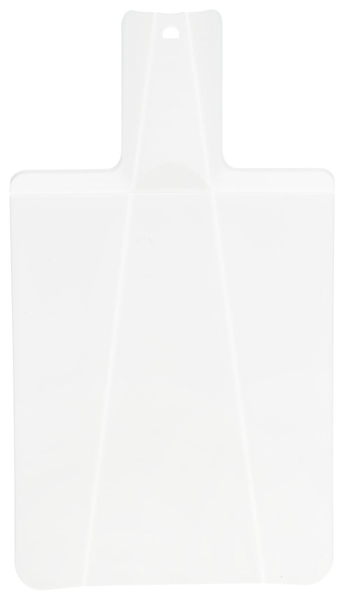 Доска разделочная Mayer & Boch, складная, цвет: белый, 21 х 37 см863532_красныйРазделочная доска Mayer & Boch изготовлена из высококачественного полипропилена.Умный дизайн рукоятки позволяет с легкостью складывать, а также разворачивать доску. Присжатии ручки края доски складываются, образуя форму лотка. Это позволяет с легкостью ибыстротой переносить нарезанные продукты. Такая доска не помнется, не сломается и не пойдеттрещинами. Компактная доска Mayer & Boch прекрасно подойдет даже для небольшой поверхности стола ине займет много места при хранении.