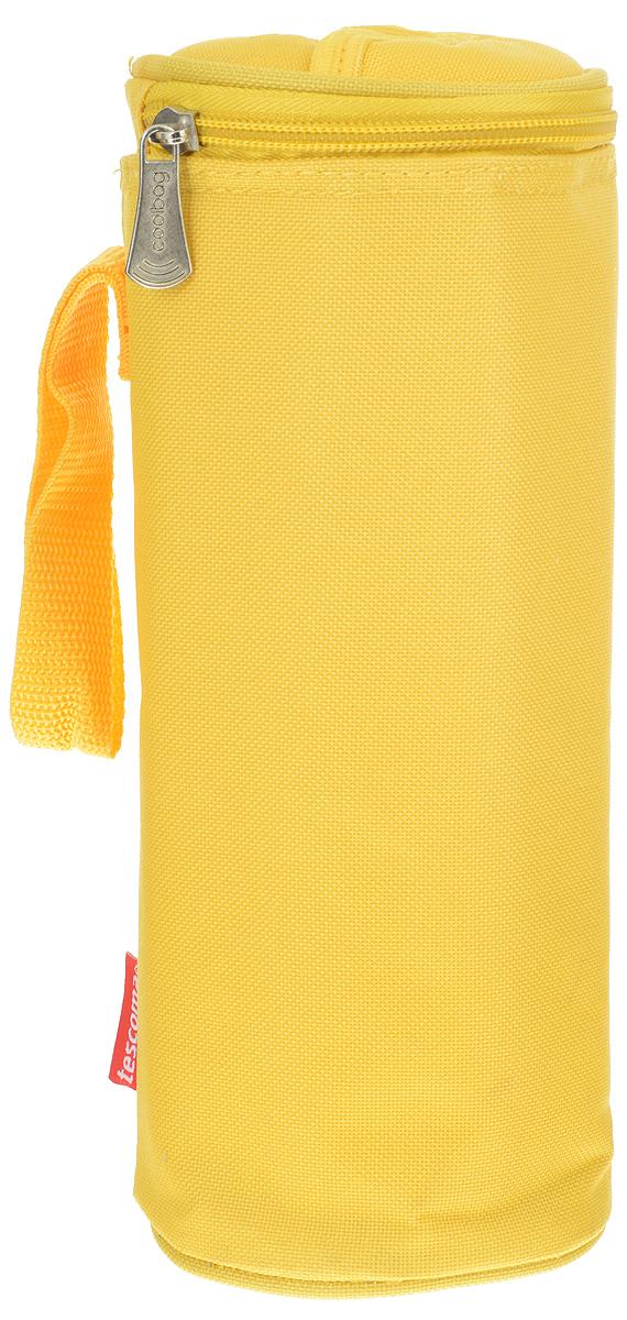 Сумка-холодильник Tescoma Coolbag, цвет: желтый, 10,5 х 10,5 х 25 смAS 25Сумка-холодильник Tescoma Coolbag, изготовленная из прочного полиэстера и полипропиленовой фольгированной пленки, предназначена для сохранения температуры напитков. Сумка-холодильник имеет одно вместительное отделение. Благодаря отверстию для горлышка, емкость можно открыть в любое время, не доставая ее из сумки. Изделие идеально подходит для ПЭТ бутылок объемом 0,75-1 литра.Внутри сумки расположена теплоизолирующая подкладка из алюминиевой фольги. Сумка закрывается на молнию и имеет регулируемый ремень для удобной переноски. Она прекрасно подходит для походов на пляж, пикников и поездок за город. С такой сумкой напитки дольше остаются охлажденными. Рекомендуется чистить влажным полотенцем.Нельзя мыть в посудомоечной машине, не стирать.