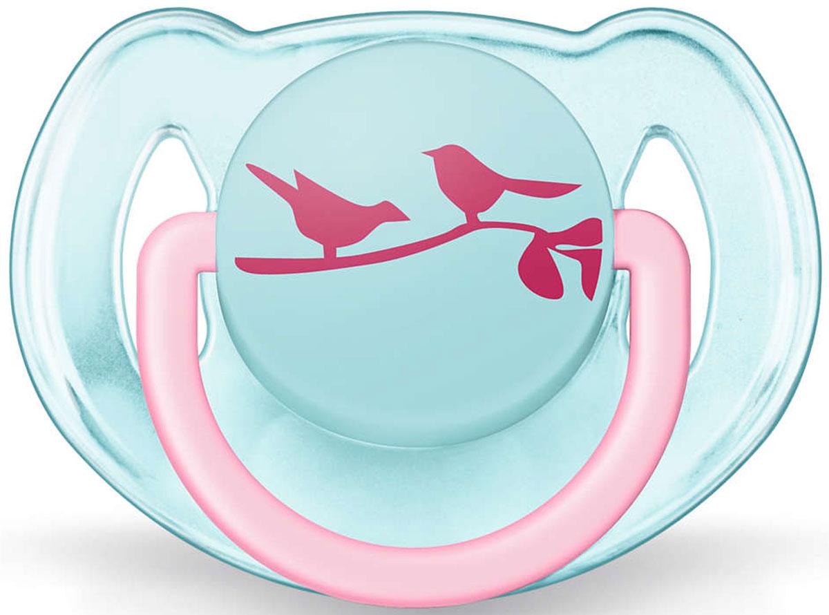 Philips Avent Пустышка ортодонтическая FreeFlow Птички 6-18 месяцев пустышка philips philips mp002xg0002l