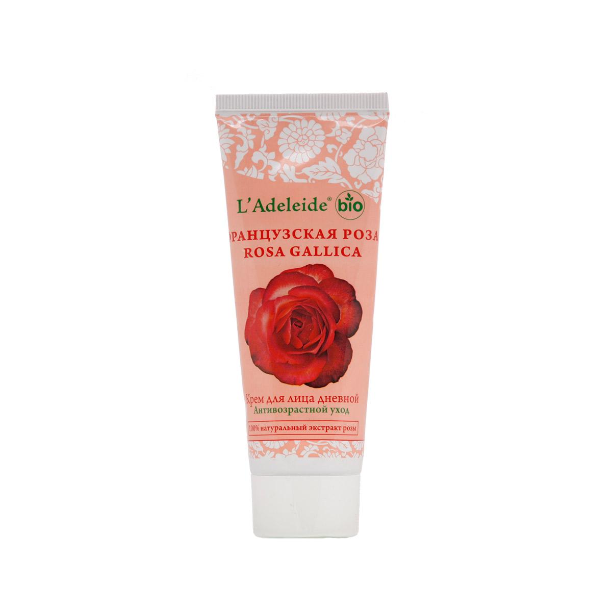 LAdeleide Крем для лица дневной Французская роза Антивозрастной, 75 млBXGRPФранцузская роза – это линия компании L'Adeleide на основе натурального экстракта французской розы, волшебным эффектом которого пользуются многие столетия жительницы Cредиземноморья. Французская роза известна своим регенерирующим и омолаживающим эффектом. Благодаря последним технологиям, L'Adeleide смог передать сильный эффект экстракта. Косметический крем для лица Французская роза легко впитывается, устраняет все признаки уставшей кожи: успокаивает, увлажняет и питает. Сбалансированная формула крема содержит дистиллят розы и важнейшие витамины F и E. Крем способствует поддержанию эластичности и упругости кожи. В составе - комплекс Hydrovance, который обеспечивает тотальное увлажнение кожи за счет своего проникновения даже в самые глубокие слои эпидермиса. Hydrovance уменьшает раздражения и воспаления сухой кожи и повышает эластичность. Применение крема стимулирует клеточную регенерацию, препятствует возникновению морщин, способствует разглаживанию мелких морщин, повышает защитные свойства кожи, выравнивает цвет, нормализует активность сальных желез.