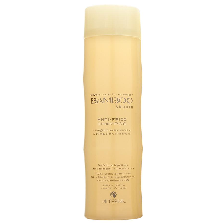 Alterna Полирующий шампунь Bamboo Smooth Anti-Frizz Shampoo - 250 мл44010Органическое масло Kendi Oil и экстракт бамбука, входящие в состав шампуня Alterna Bamboo Smooth Anti-Frizz Shampoo помогут оптимально увлажнить и укрепить волосы, делая их гладкими, сильными и шелковистыми. Технология Color Hold позволит вашим окрашенным волосам дольше сохранять цвет, не вымывая его.Результат: Очищает волосы без использования сульфатов. Оптимально увлажняет волос. Укрепляет волосы, закладывает основу для гладких и здоровых волос. Сохраняет яркость цвета окрашенных и натуральных волос. Улучшает внешний вид волос. Разглаживает волосы, придает им гладкость и блеск. Обладает влагостойкими свойствами.