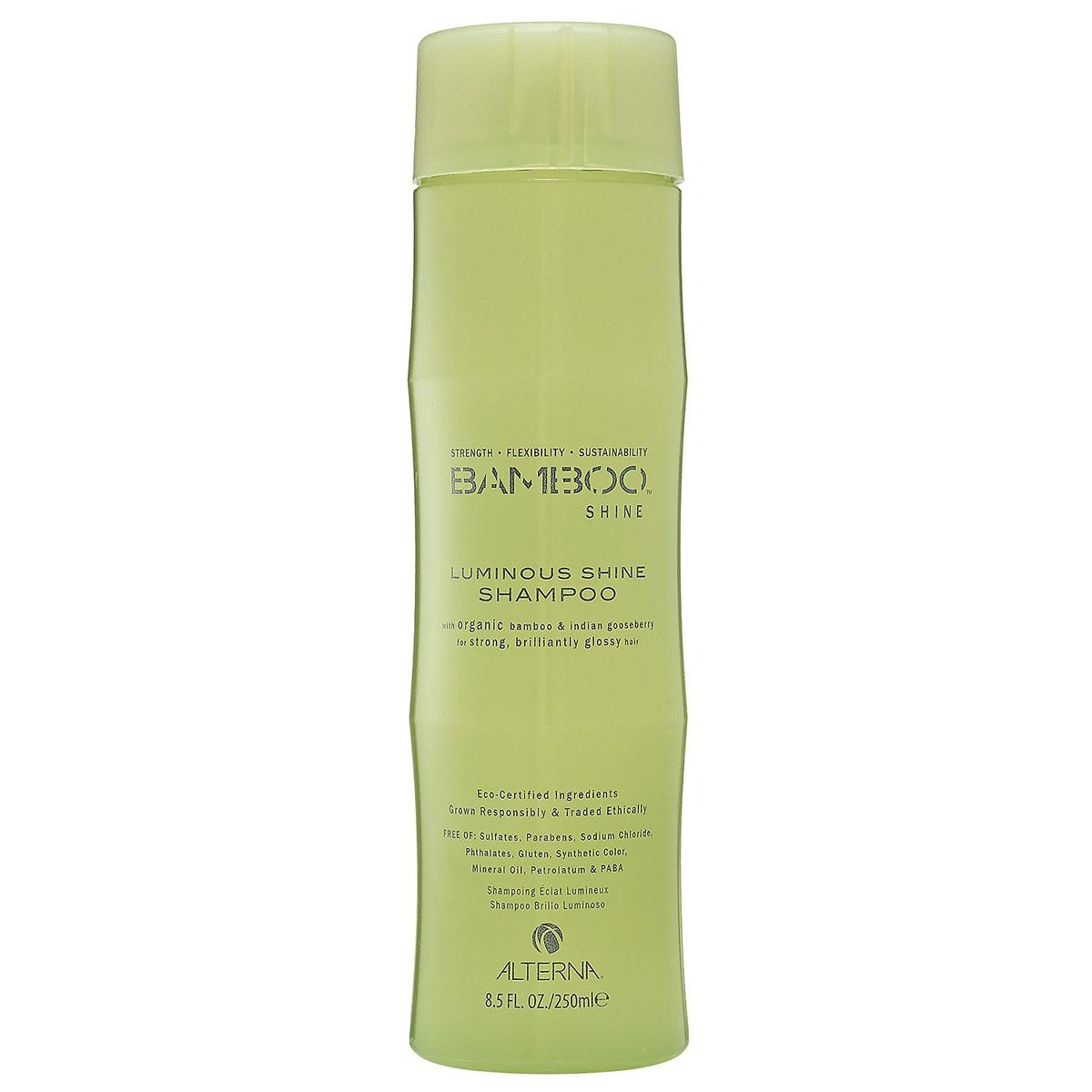 Alterna Шампунь для сияния и блеска волос (безсульфатный) Bamboo Luminous Shine Shampoo - 250 мл46010Органическое масло индийского крыжовника и экстракт бамбука, входящие в состав шампуня Bamboo Luminous Shine Shampoo помогут оптимально увлажнить и укрепить волосы, делая их гладкими, сильными и шелковистыми. Технология Color Hold позволит окрашенным волосам дольше сохранять цвет, не вымывая его. Идеально подходит для светлых волос. Результат: очищает волосы без использования сульфатов. Оптимально увлажняет и укрепляет волосы. Сохраняет яркость цвета окрашенных и натуральных волос. Улучшает внешний вид волос. Разглаживает волосы, придает им гладкость и блеск.