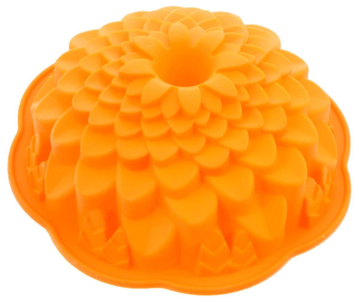 Форма для выпечки Marmiton Хризантема, цвет: оранжевый, диаметр 21,5 см16045_оранжевыйФигурная форма для выпечки Marmiton Хризантема будет отличным выбором для всех любителей бисквитов и кексов. Благодаря тому, что форма изготовлена из силикона, готовую выпечку или мармелад вынимать легко и просто.С такой формой вы всегда сможете порадовать своих близких оригинальной выпечкой. Материал устойчив к фруктовым кислотам, может быть использован в духовках, микроволновых печах и морозильных камерах (выдерживает температуру от +240°C до -50°C). Можно мыть и сушить в посудомоечной машине.Диаметр формы: 21,5 см.Высота формы: 7 см.