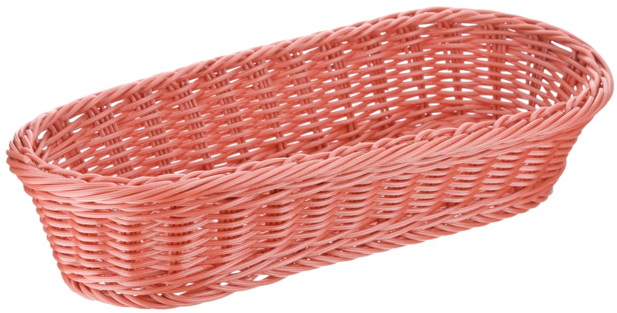 Корзинка Tescoma Flair, цвет: коралловый, 36 x 16,5 х 9см665038Плетеная корзинка Tescoma Flair изготовлена из устойчивого к воздействию окружающей среды искусственного волокна. Идеально подходит для хранения выпечки, конфет, фруктов, косметики, рукоделия и оформления подарков. Она не требует тщательного ухода, не впитывает запахи, не боится воды и не разрушается от перепада температур. Корзинка Tescoma Flair отлично впишется в интерьер вашего дома.Можно мыть в посудомоечной машине.