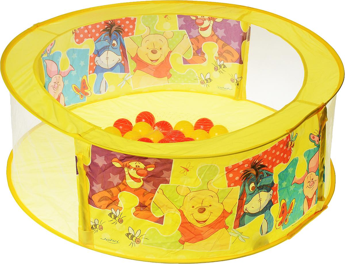 """Манеж игровой с мячиками John """"Винни-Пух"""" позволит ребенку создать собственное игровое пространство, а родителям не переживать за безопасность малыша. Манеж выполнен в ярких цветах, оформлен изображениями диснеевских персонажей, которые порадуют малыша. Манеж очень легкий и прочный. Изготовлен из высококачественного моющегося материала. В комплекте с манежем имеются 30 мягких пластиковых мячиков, которыми можно наполнить дно манежа. Пока малыш весело играет в ярком и красочном манеже, мама может заняться своими делами. Малыш всегда будет видеть свою маму, а мама, в свою очередь, будет видеть, чем занимается ее ребенок."""