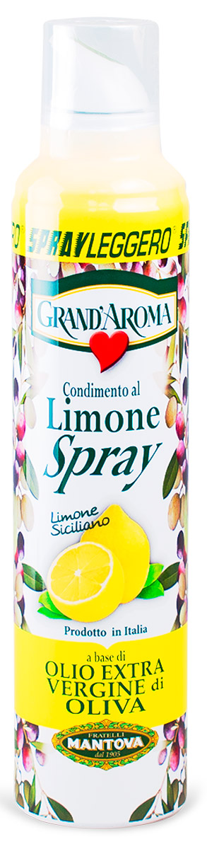 Fratelli Mantova Extra Virgin оливковое масло с лимоном спрей, 250 мл