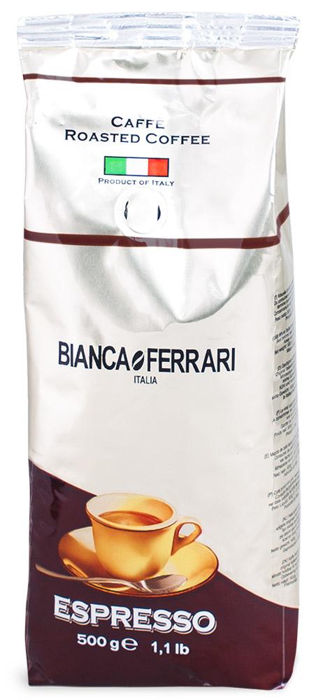 Bianca Ferrari Эспрессо Крема кофе в зернах, 500 г464528Bianca Ferrari Эспрессо Крема - натуральный кофе в зернах для приготовления эспрессо и изысканных напитков на его основе. Гарантирует превосходную кремообразную текстуру и знаменитую пенку, прославившую итальянский кофе на весь мир.