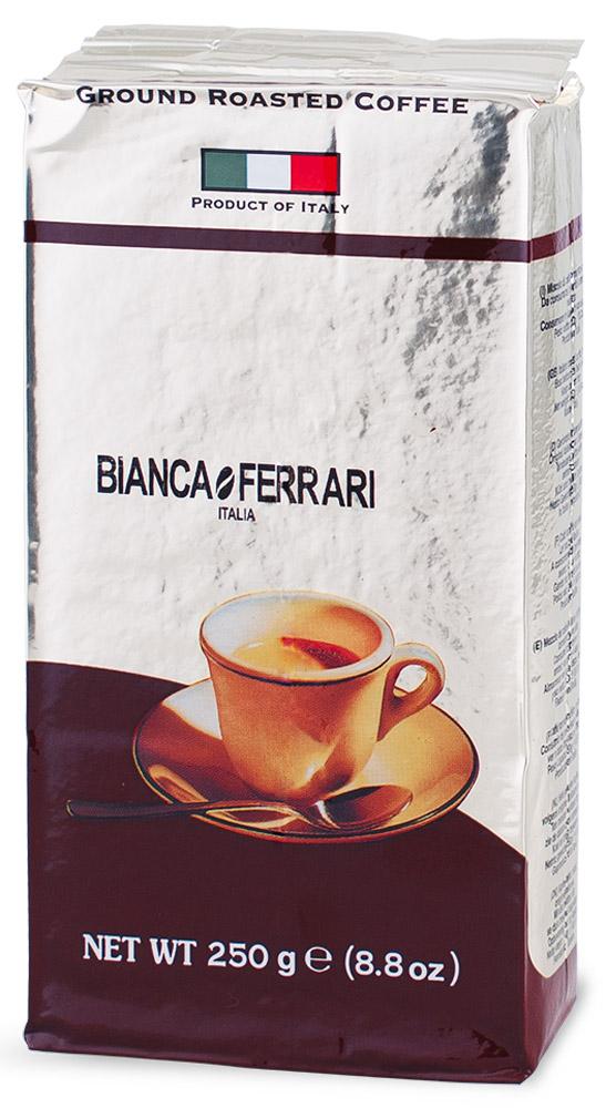 Bianca Ferrari Граундкофе Крема кофе молотый, 250 г12128828Bianca Ferrari Граундкофе Крема - натуральный молотый кофе для приготовления эспрессо и изысканных напитков на его основе. Гарантирует превосходную кремообразную текстуру и знаменитую пенку, прославившую итальянский кофе на весь мир.