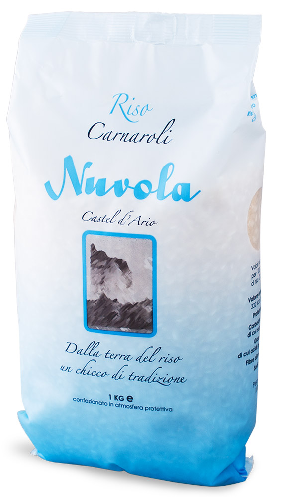 Riso Nuvola Карнароли рис, 1 кг0120710Riso Nuvola Карнароли - самый дорогой и наиболее универсальный из трех сортов риса, используемых для приготовления ризотто. Был получен путем скрещивания японского риса и сорта Vialone. Обеспечит идеальное качество и отменный сливочный вкус ризотто.