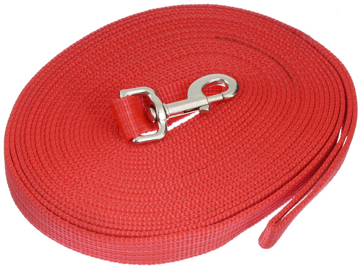 Поводок для собак Аркон, цвет: красный, ширина 2,5 см, длина 10 м25703Поводок для собак Аркон изготовлен из высококачественного брезента. Карабин выполнен из легкого сверхпрочного сплава. Поводок - необходимый аксессуар для собаки. Ведь в опасных ситуациях именно он способен спасти жизнь вашему любимому питомцу. Иногда нужно ограничивать свободу своего четвероногого друга, чтобы защитить его или себя от неприятностей на прогулке. Длина поводка: 10 м.Ширина поводка: 2,5 см.Уважаемые клиенты! Обращаем ваше внимание на то, что товар может содержать светодиодную ленту.