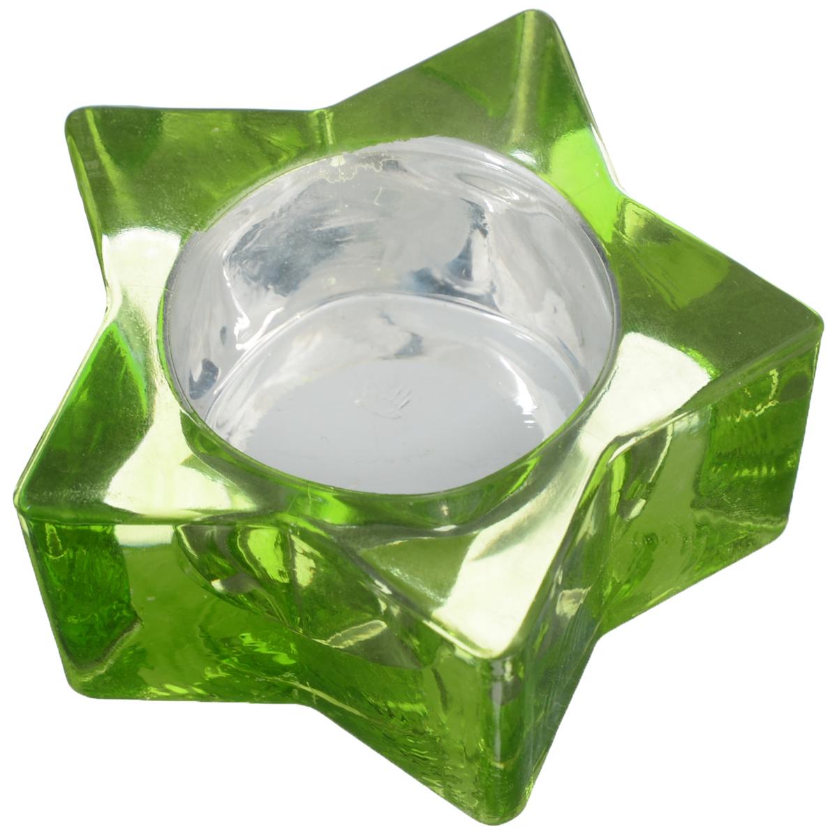 Подсвечник Loraine Звездочка, цвет: зеленый25051 7_зеленыйДекоративный подсвечник Loraine Звездочка изготовлен из цветного стекла и предназначен для одной свечи. Изделие имеет форму звезды. Благодаря оригинальному дизайну, такой подсвечник позволит украсить интерьер дома или рабочего кабинета оригинальным образом. Вы сможете не просто внести в интерьер своего дома элемент необычности, но и создать атмосферу загадочности.Размер подсвечника: 7,5 х 7,5 х 3,3 см.Диаметр отверстия для свечи: 4,2 см.