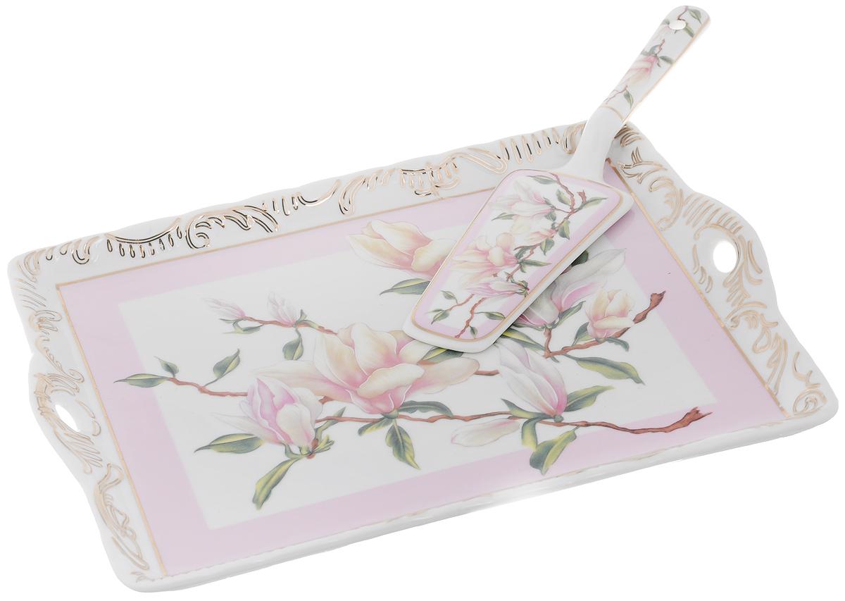 Поднос Elan Gallery Орхидея на розовом, с лопаткой, 29 х 22 х 1,5 см180776Прямоугольный поднос Elan Gallery Орхидея на розовом изготовлен из высококачественной керамики иоформлен красочным изображением. Поднос оснащен невысокимибортиками иручками, благодаря которым его удобно переносить. Может использоваться как для сервировки,так и для декора кухни. Поднос прекрасно дополнит интерьер и добавит в обычную обстановку нотки романтики иизящества.В комплект входит специальная лопатка.Изделие упаковано в подарочную коробку с атласной подложкой. Не рекомендуется применять абразивные моющие средства. Не использовать в микроволновой печи.Размер подноса: 29 х 22 х 1,5 см.Длина лопатки: 24 см.