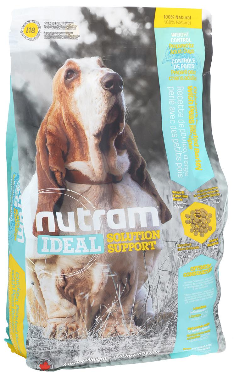 Корм сухой для собак Nutram Ideal Weight Control, 2,72 кг70787Сухой корм для собак Nutram Ideal Weight Control - специализированная пищевая поддержка для взрослых собак. Это целостный, полезный, богатый питательными веществами корм, который улучшает самочувствие и здоровье питомцев по принципу изнутри наружу. Подход Nutram к целостному питанию начинается с улучшения пищеварения с помощью специальной комбинации тыквы и корня цикория. Корень цикория способствует увеличению количества природных кишечных бактерий. Богатая клетчаткой тыква помогает движению пищи по пищеварительному тракту, продлевая ощущение сытости, что имеет решающее значение для контроля за весом. Ингредиенты с низким содержанием жира и высоким содержанием белка обеспечивают собак питательными веществами, необходимыми для естественного регулирования веса. Оптимальное сочетание жира лососевых рыб и зеленых мидий (источников Омега-3 жирных кислот) оказывает противовоспалительное действие, повышая подвижность собаки. Особенности: - Содержит мясо курицы, перловую крупу и клетчатку гороха- L-карнитин - для поддержки оптимальной мышечной массы- Высокое содержание белка для регулирования веса- Не содержит пшеницу, кукурузу, картофель или сою в любом видеСостав: дегидрированное мясо курицы, мясо курицы без костей, перловая крупа, зеленый горошек, овсяная мука, коричневый рис, чечевица, цельные яйца, сушеная масса гороха, сушеная свекольная масса, натуральный куриный ароматизатор, льняное семя, люцерна, куриный жир, сушеная овощная смесь (сельдерей, свекла, петрушка, салат-латук, водяной кресс, шпинат), яблоко, морковь, жир лососевых рыб, тыква, хлористый калий, морская соль, хлорид холина, DL-метионин, гранат, клюква, корень цикория (пребиотик), витамины и минералы (витамин E, А, D3, B3, C, B5, B1, B2, B6, B9, B7, B12, бета-каротин, протеинат цинка, сульфат железа, протеинат железа, оксид цинка, протеинат меди, сульфат меди, протеинат марганца, оксид марганца, йодат кальция, селенит натрия), глюкозамин, зелен