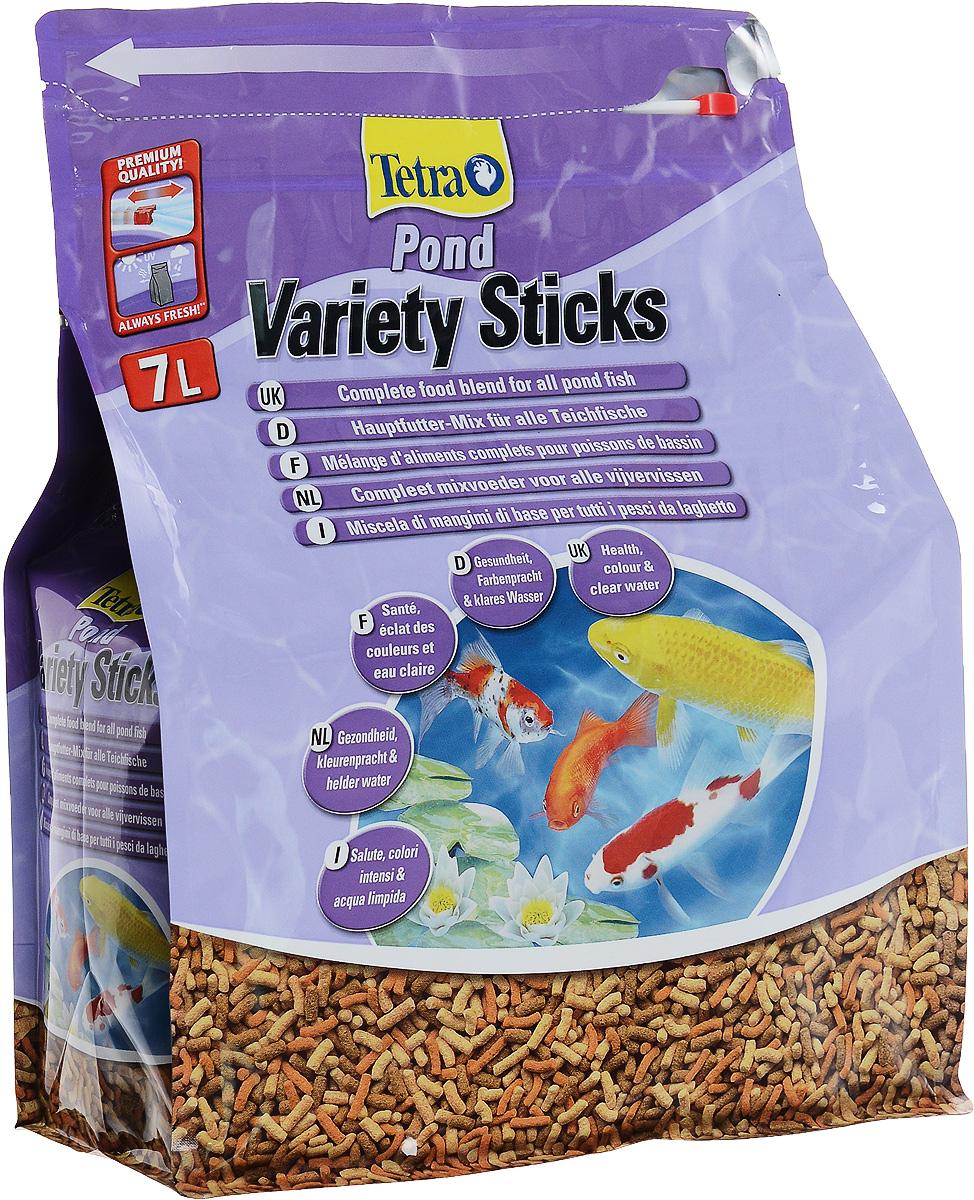 Корм сухой Tetra Pond. Variety Sticks для прудовых рыб, палочки, 7 л (1,02 кг)0120710Корм сухой Tetra Pond. Variety Sticks - это основная кормовая смесь, которая содержит три вида палочек для здорового, полноценного питания прудовых рыб. Запатентованная BioActive формула обеспечивает высокую устойчивость к заболеваниям, придает энегрию и жизнеспособность. Корм содержит все необходимые элементы, витамины и микроэлементы для предотвращения симптомов недостаточности, связанных с питанием. Легкий прием и высокая перевариваемость уменьшает степень загрязнения воды и улучшает ее качество. Кормите не менее 2 - 3 раз в день в таком количестве, которые рыбы могут съесть в течение нескольких минут. Состав: растительные продукты, зерновые культуры, экстракты растительного белка, рыба и побочные рыбные продукты, дрожжи, минеральные вещества, водоросли, масла и жиры, овощи. Пищевая ценность: сырой белок - 31%, сырые масла и жиры - 4,5%, сырая клетчатка - 2%, влага - 7%.Добавки: витамины, провитамины и химические вещества с аналогичным воздействием: витамин В 28900 МЕ/кг, витамин Д3 1800 МЕ/кг. Комбинации элементов: Е5 Марганец 100 мг/кг, Е6 Цинк 60 мг/кг, Е1 Железо 39 мг/кг, Е3 Кобальт 0,7 мг/кг. Красители, консерванты, антиоксиданты.Товар сертифицирован.
