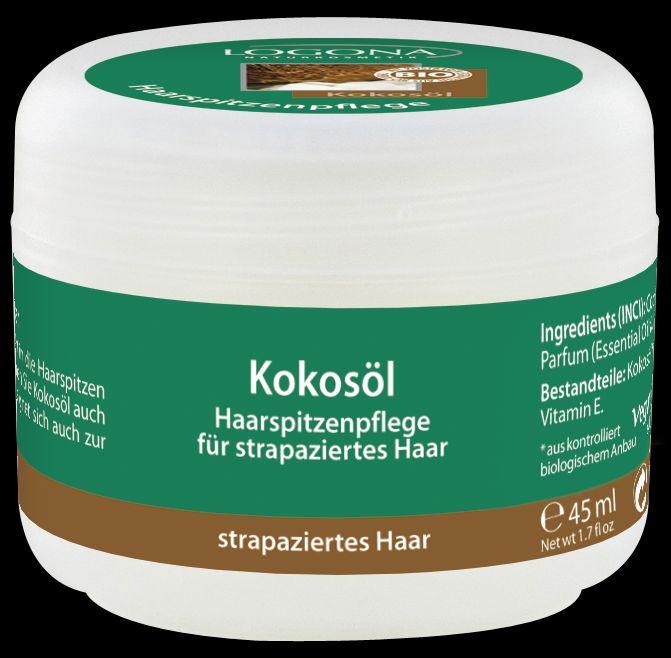 LOGONA Кокосовое масло 45 мл880334802613Ухаживает за волосами и восстанавливает секущиеся кончики.Кокосовое масло – универсальное средство для поддержания красоты ваших волос. Ценное кокосовое масло насыщает волосы питательными веществами, придавая им гладкость, эластичность и блеск. Всего несколько капель кокосового масла, нанесенных на кончики волос перед сном, способны восстановить структуру волос, оживить и преобразить даже сухие и ломкие волосы. Кокосовое масло также можно использовать для массажа или ухода за кожей.