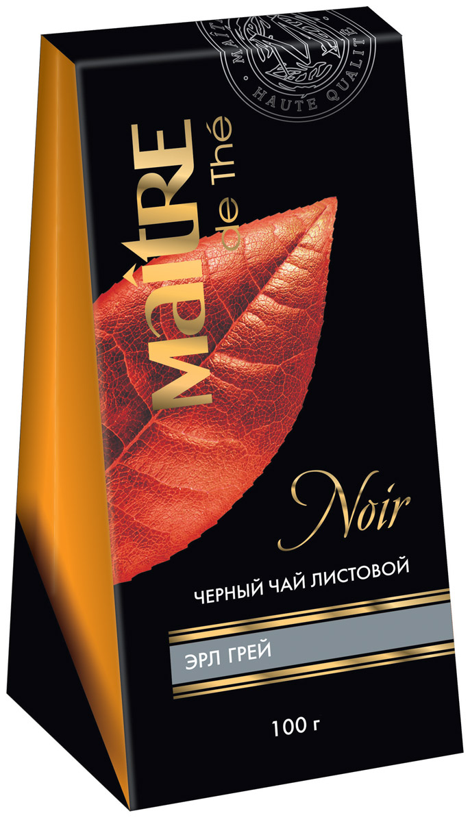 Maitre Эрл Грей черный листовой чай, 100 г0120710Классический листовой черный цейлонский чай с характерным, ярко выраженным ароматом бергамота.