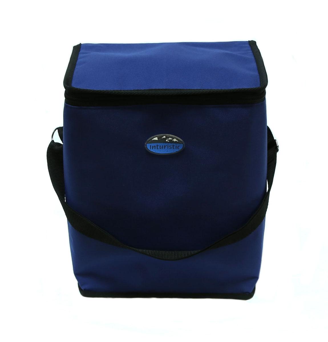 Сумка изотермическая Inturistic, цвет: синий, 17л787502Изотермическая сумка Inturistic поможет сохранить температуру пищи и напитков в течение нескольких часов. Она будет удобна при поездках на дачу, на пикник и дальних путешествиях. Коэффициент теплового отражения не менее 90%. Температурный диапазон от -60°С до 140°С. Вмещает по высоте до 6 ПЭТ бутылок емкостью 1,5 л с прохладительными напитками. Наибольший эффект достигается при использовании аккумуляторов холода. Имеется карман для аккумулятора холода. Карман можно использовать для переноски необходимых мелочей. Сумка удобна для переноски контейнеров с едой и ланч боксов.Материал: Oxford ПВХ, тепло/гидроизоляционный материал, термостойкая изоляция.Объем сумки: 17 л.Размер сумки: 26 х 20 х 32 см.