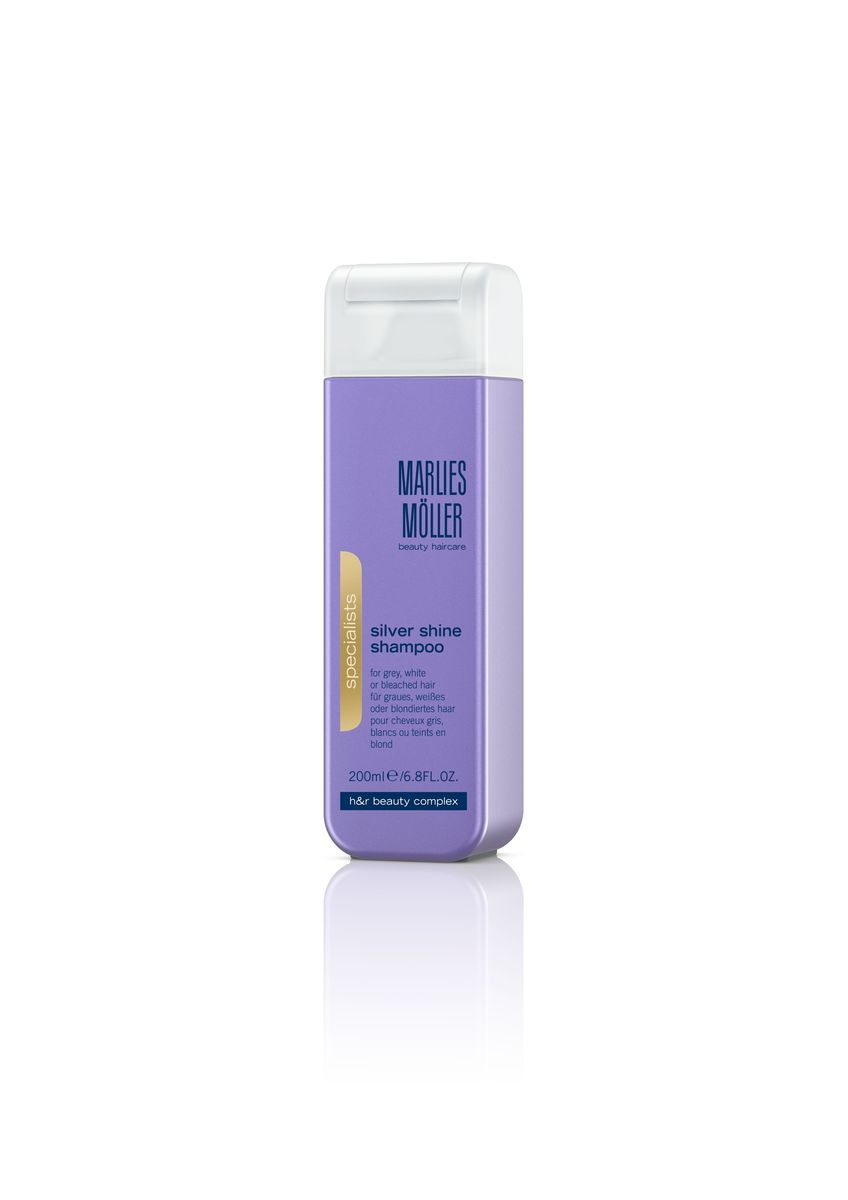Marlies Moller Specialist Шампунь для блондинок против желтизны волос, 200 мл72523WDНатуральные и пепельные оттенки волос по-прежнему популярны в новом сезоне. Но эти цвета далеко не самые простые. Их необходимо постоянно поддерживать. Шампунь Marlies Moeller - это простое и эффективное решение для того, чтобы придать волосам изысканный, благородный оттенок.В зависимости от длины волос возьмите небольшое количество шампуня (размером с 1-2 лесных ореха) и вспеньте его в ладонях. Легкими круговыми массажными движениями нанесите шампунь, расположив одну руку спереди, другую - на затылке. Повторите массажные движения столько раз, сколько Вам нравится. Тщательно ополосните голову.