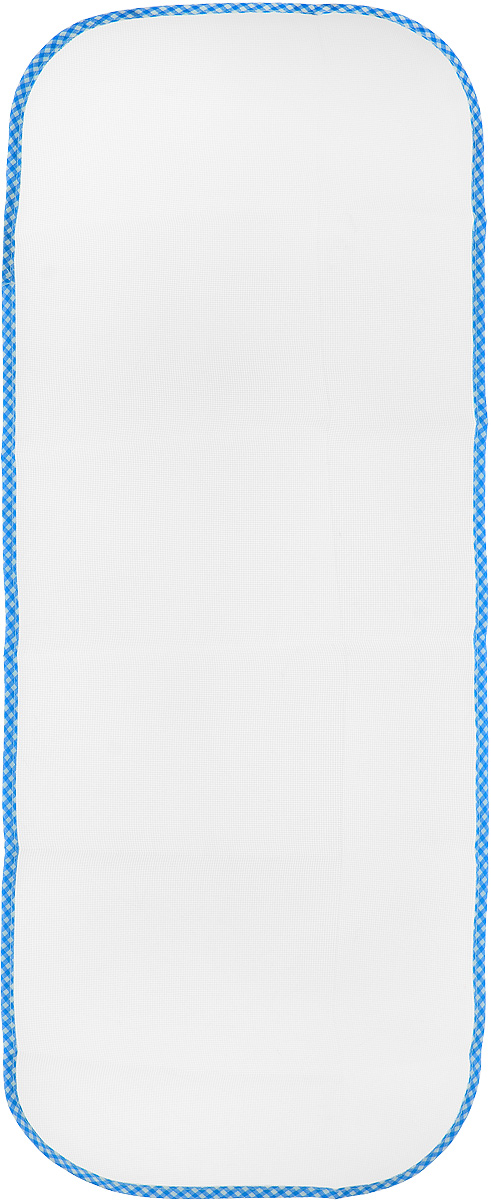 """Сетка для глажения Хозяюшка Мила """"Silk & Wool"""", цвет: голубой, белый, 35 х 90 см"""