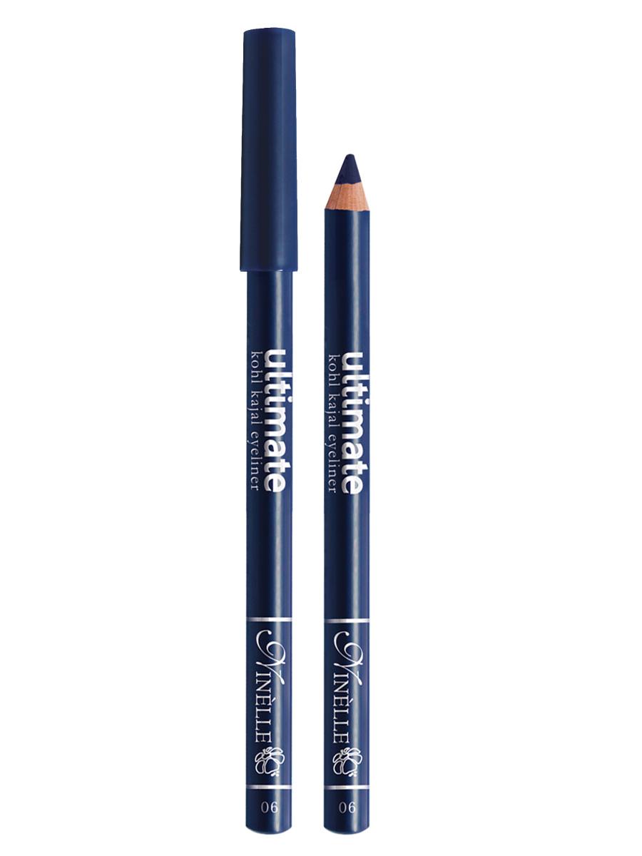 Ninelle Карандаш для глаз Ultimate №06, 1,5 г5010777139655Мягкий и гладкий карандаш для глаз с шелковистой текстурой, позволяющий нарисовать четкую или слегка растушеванную линию. С помощью мягкого карандаша- каяла можно подводить верхнее, нижнее, а также внутреннее веко.