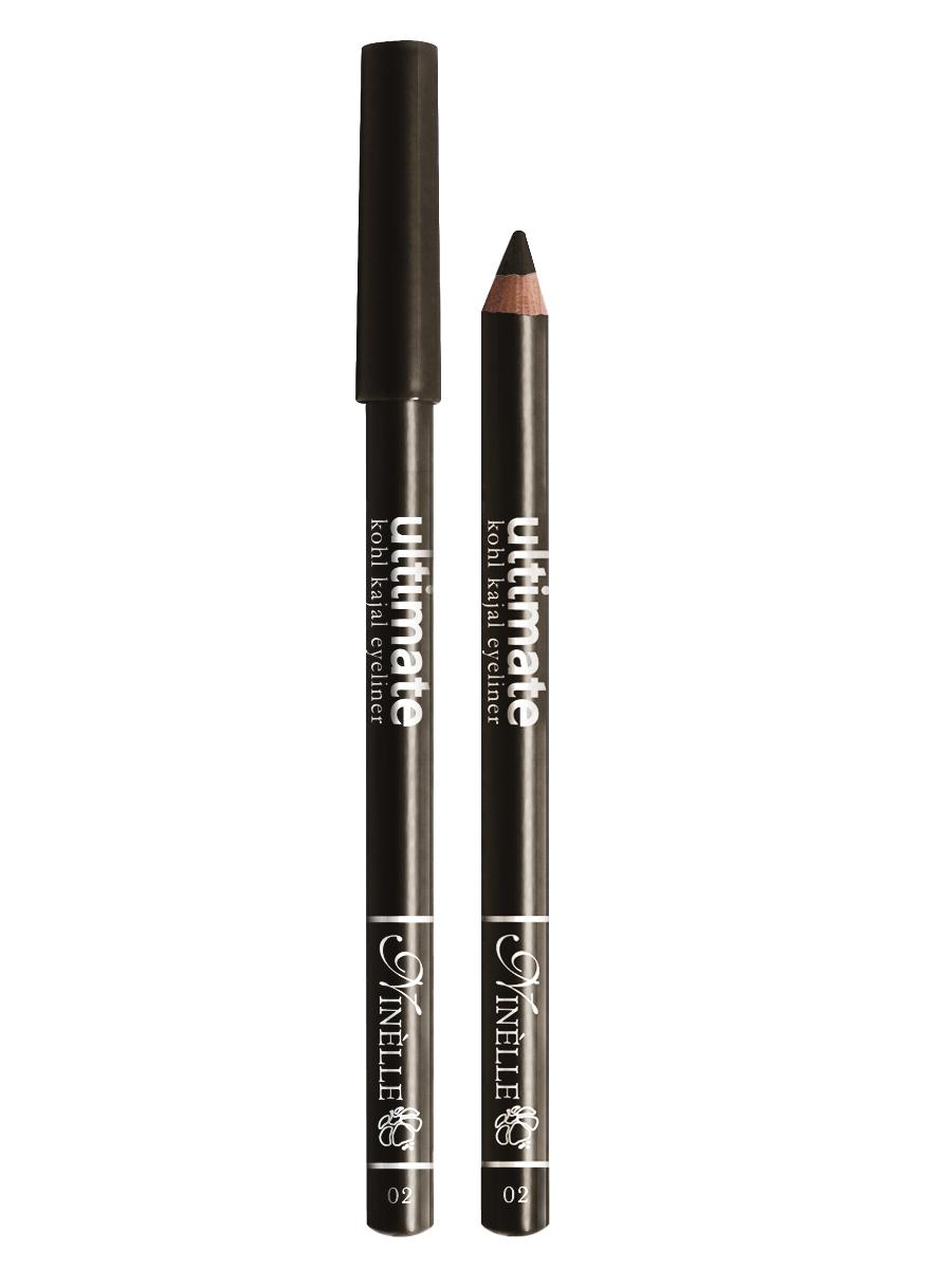 Ninelle Карандаш для глаз Ultimate №02, 1,5 гB2718600Мягкий и гладкий карандаш для глаз с шелковистой текстурой, позволяющий нарисовать четкую или слегка растушеванную линию. С помощью мягкого карандаша- каяла можно подводить верхнее, нижнее, а также внутреннее веко.
