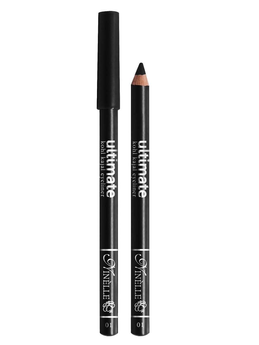 Ninelle Карандаш для глаз Ultimate №01, 1,5 г96098752Мягкий и гладкий карандаш для глаз с шелковистой текстурой, позволяющий нарисовать четкую или слегка растушеванную линию. С помощью мягкого карандаша- каяла можно подводить верхнее, нижнее, а также внутреннее веко.