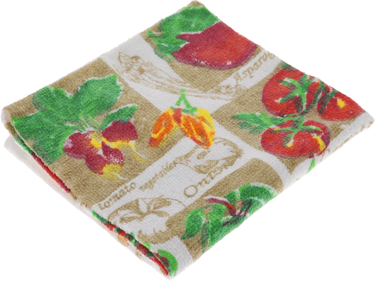 Полотенце кухонное Home Queen Овощи, 38 х 64 смVT-1520(SR)Кухонное полотенце Home Queen Овощи, выполненное из 100% хлопка, оформлено ярким рисунком. Изделие предназначено для использования на кухне и в столовой.Такое полотенце станет отличным вариантом для практичной и современной хозяйки.