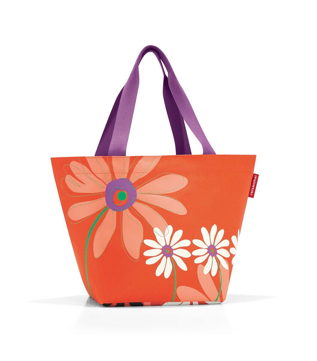 Сумка женская Reisenthel, цвет: оранжевый, мультиколор. ZS404323008Вместительная женская сумка Reisenthel, изготовленная из текстиля, оформлена оригинальным принтом и вышивкой. Сумка имеет одно отделение, которое закрывается на застежку-молнию. Внутри расположен нашивной карман на застежке-молнии. Сумка оснащена двумя длинными ручками.
