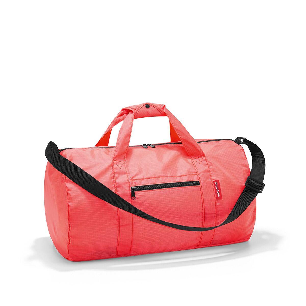 Сумка спортивная женская Reisenthel, цвет: коралловый. AM3051AM3051Универсальная сумка-трансформер серии Mini Maxi, предназначенная для путешествий и спорта. Подходит для хранения, компактно складывается в собственный внутренний карман. У модели вместительное основное отделение на молнии, экономит место при хранении и перевозке в сложенном состоянии, регулируемый наплечный ремень, ручки для переноски, регулируемые при помощи специальных застежек, два внешних кармана на молнии, материал: высококачественный водостойкий полиэстер, объем - 20 литров.