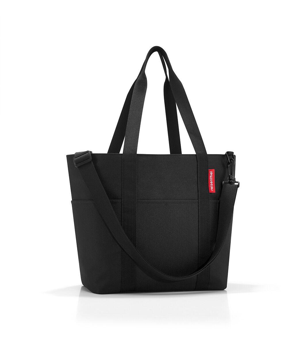 Сумка-шоппер женская Reisenthel, цвет: черный. MZ7003S76245Универсальная сумка для прогулок, пикника или шоппинга. Продуманный дизайн сочетает внешнюю привлекательность и исключительную практичность. Изобилие карманов и отделений помогает держать в порядке даже большое количество разнообразных вещей. У модели вместительное основное отделение на молнии, 2 удобные ручки для переноски, съемный регулируемый наплечный ремень, 4 внешних и 6 внутренних отделения, небольшой потайной карман, вшитый в подкладку, подкладка на дне, обеспечивающая прочность и стойкую форму, материал: высококачественный водостойкий полиэстер, объем – 15 литров.