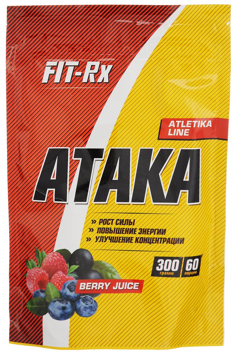 Предтренировочный комплекс FIT-RX  Ataka , ягодный сок, 300 г - Послетренировочные комплексы