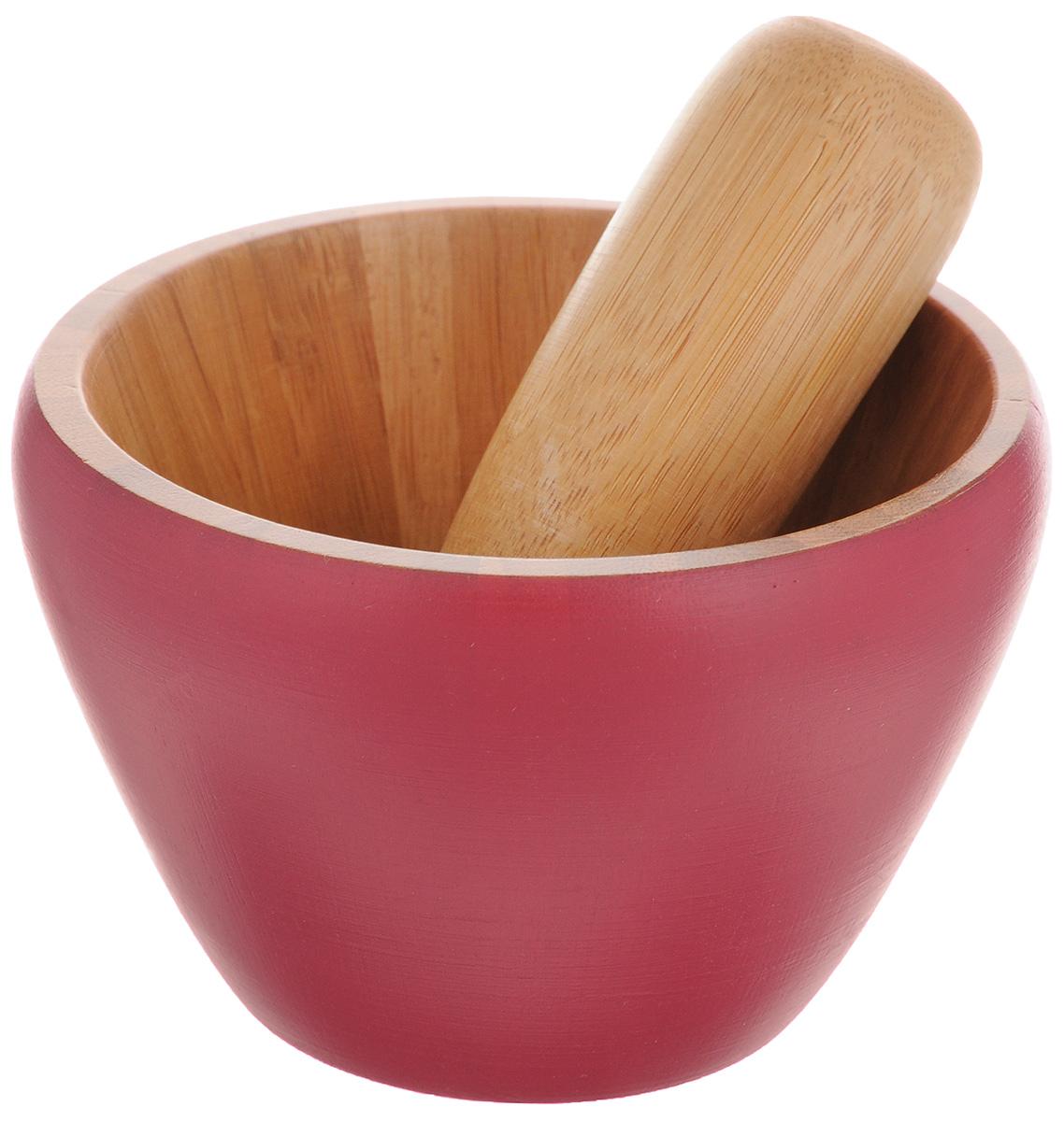 Ступка с пестиком Mayer & Boch, цвет: красный, натуральное дерево23261_красныйСтупка с пестиком Mayer & Boch, выполненные из высококачественного бамбука, украсят современный интерьер и добавят изысканный штрих вашему кухонному пространству. Изделия предназначены для измельчения различных специй и трав, орехов, чеснока, каперсов и многого другого.Для эффективного измельчения рабочая часть изделий шероховатая. С таким набором вы с легкостью добьетесь необходимой вам консистенции продукта.Не использовать в посудомоечной машине.Диаметр ступки (по верхнему краю): 11,5 см.Диаметр основания ступки: 6,2 см.Высота стенок: 8 см.Длина пестика: 12 см.Диаметр рабочей поверхности пестика: 3 см.