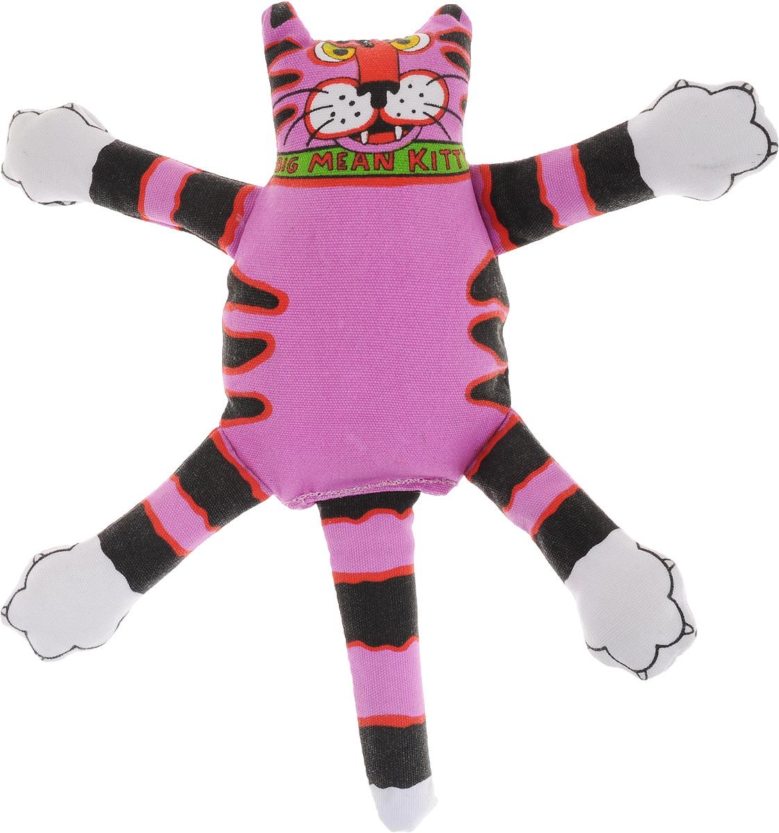 Игрушка для собак Fat Cat Кот-забияка, цвет: фиолетовый, черный598STEXИгрушка Fat Cat Кот-забияка - это мечта каждой собаки, которая хочет потрепать кота и получить от этого удовольствие. Кот в свою очередь – не просто яркая игрушка с нахальной мордой, это забияка, который подразнит вашего любимца и даст сдачи во время игры, при тряске он машет лапами и шлепает ими собаку по голове. Внутри игрушки пищалка, срабатывающая при нажатии.Забавное времяпрепровождение вашему другу просто обеспечено! Подойдет для собак средних размеров.