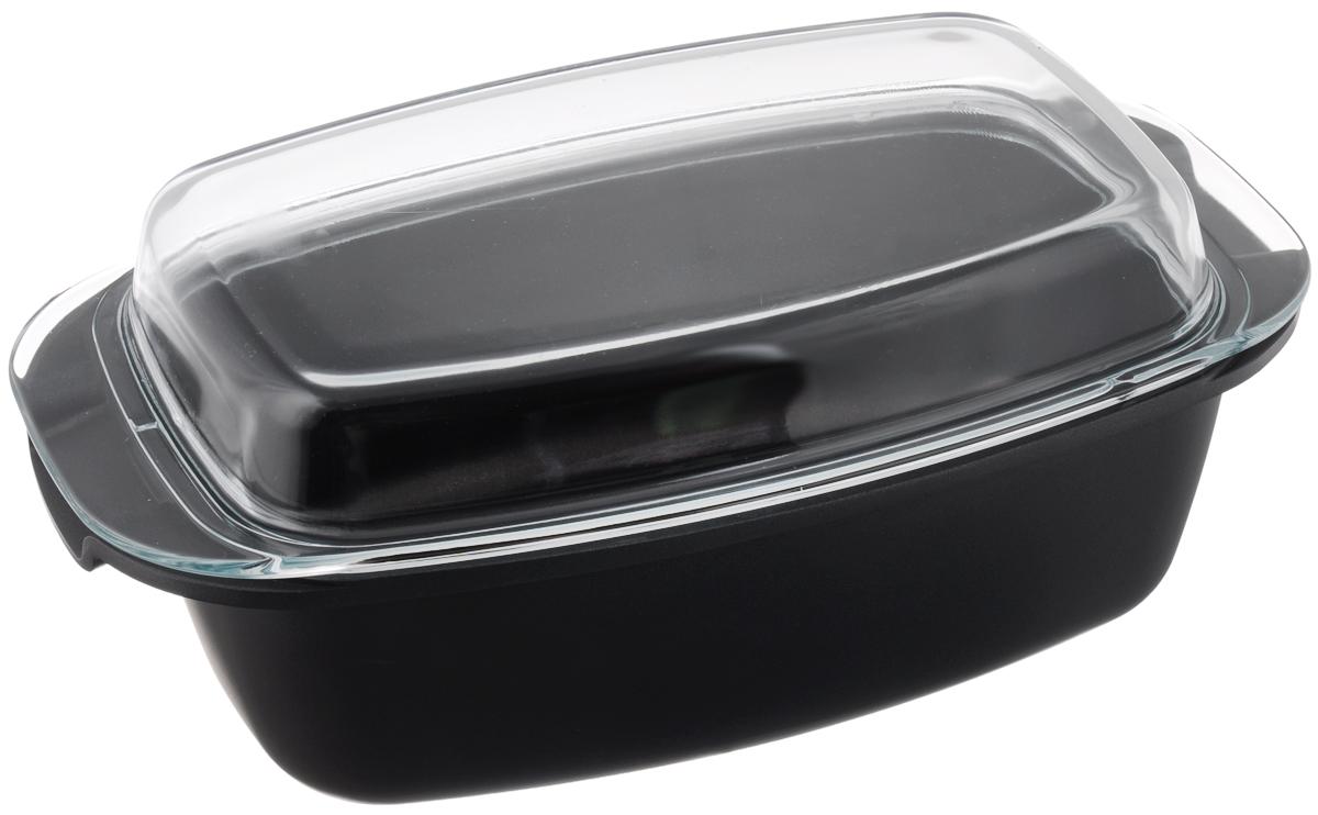 Жаровня Tescoma Premium с крышкой, с антипригарным покрытием, 39 х 22 см54 009312Жаровня Tescoma Premium изготовлена из литого алюминия с антипригарным покрытием, которое предотвращает пригорание и прилипание пищи. Специальным образом отшлифованное дно обеспечивает идеальный контакт с варочной поверхностью. Изделие снабжено жароупорной стеклянной крышкой, которую можно использовать в качестве самостоятельной формы для выпечки. Изделие подходит для всех видов духовок, а также для газовых, электрических и стеклокерамических плит. Не подходит для микроволновых печей. Можно мыть в посудомоечной машине. Размер жаровни (по верхнему краю): 39 х 22 см. Внутренний размер (по верхнему краю): 32,5 х 20,5 см. Высота стенки: 11 см. Размер крышки: 39 х 22 х 6 см.