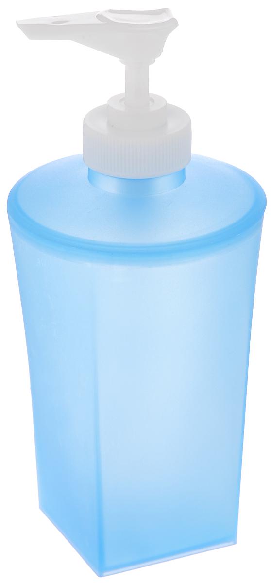 Дозатор для жидкого мыла Vanstore Summer Blue, цвет: синий68/5/2Дозатор для жидкого мыла Vanstore Summer Blue изготовлен из прочного пластика. Предназначен для жидкого мыла и разнообразных жидких лосьонов. Дозатором очень легко пользоваться: просто нажмите сверху на дозатор и выдавите необходимое количество мыла. Прозрачные стенки позволяет видеть количество оставшегося мыла. Благодаря классическому дизайну и практичности, такой дозатор идеально подойдет для вашей ванной комнаты или кухни.