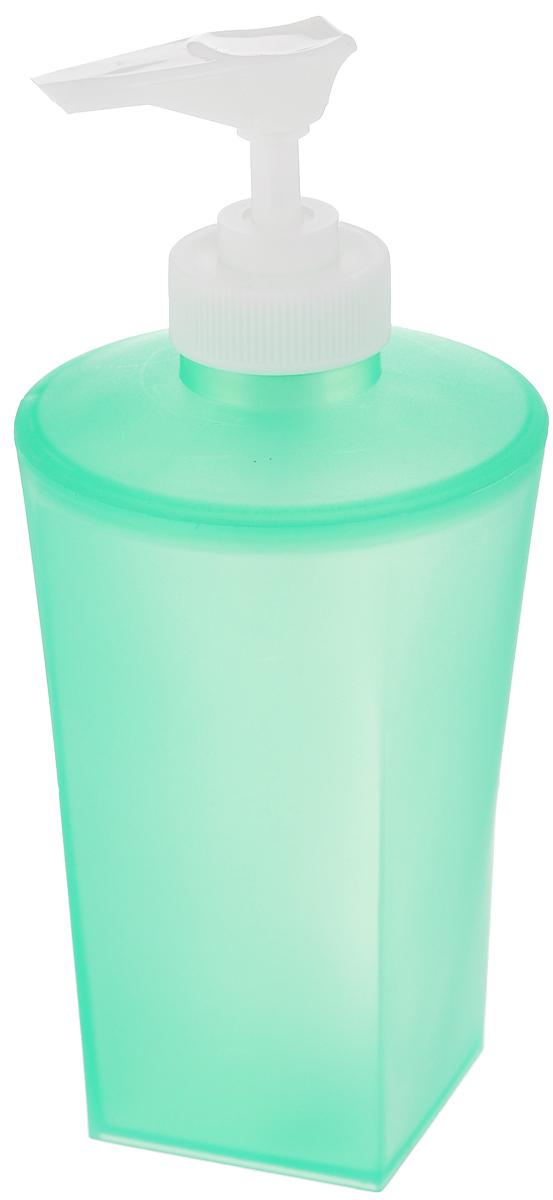 Дозатор для жидкого мыла Vanstore Summer Green, цвет: зеленый531-105Дозатор для жидкого мыла Vanstore Summer Green изготовлен из прочного пластика. Предназначен для жидкого мыла и разнообразных жидких лосьонов. Дозатором очень легко пользоваться: просто нажмите сверху на дозатор и выдавите необходимое количество мыла. Прозрачные стенки позволяет видеть количество оставшегося мыла. Благодаря классическому дизайну и практичности, такой дозатор идеально подойдет для вашей ванной комнаты или кухни.