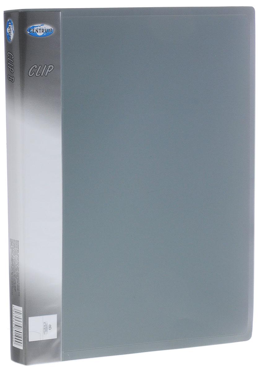Centrum Папка с боковым зажимом Clip цвет серый формат А480611 черныйПапка с боковым зажимом Centrum Clip - это удобный и практичный офисный инструмент, предназначенный для хранения и транспортировки рабочих бумаг и документов формата А4.Папка изготовлена из прочного пластика и оснащена металлическим зажимом и внутренним прозрачным кармашком.Папка с боковым зажимом - это незаменимый атрибут для студента, школьника, офисного работника. Такая папка надежно сохранит ваши документы и сбережет их от повреждений, пыли и влаги.