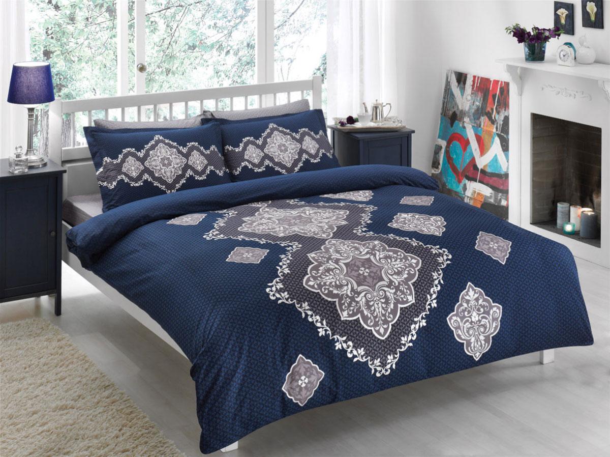 Комплект белья TAC Diane, 1,5-спальный, наволочки 50х70, цвет: синий391602Роскошный комплект постельного белья TAC Diane выполнен из качественного плотного сатина с использованием фирменного нанесения Pano. Комплект состоит из пододеяльника, простыни и двух наволочек. Пододеяльник застегивается на пуговицы.Сатин – гладкая и прочная ткань, которая своим блеском, легкостью и гладкостью похожа на шелк, но выгодно отличается от него в цене. Сатин практически не мнется, поэтому его можно не гладить. Ко всему прочему, он весьма практичен, так как хорошо переносит множественные стирки.Доверьте заботу о качестве вашего сна высококачественному натуральному материалу.