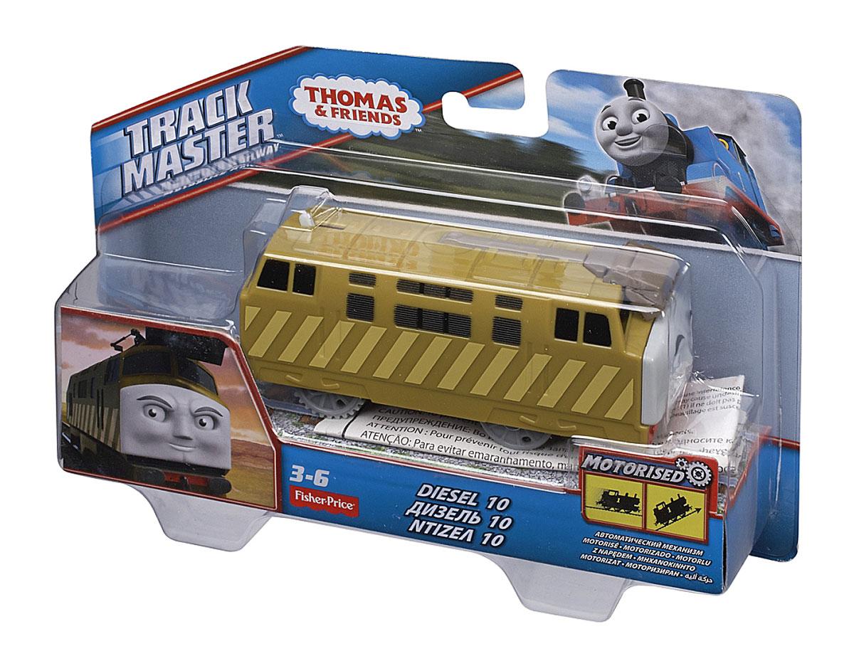"""Паровозик Thomas & Friends """"Дизель 10"""" обязательно привлечет внимание вашего малыша и не позволит ему скучать. Он выполнен из прочного пластика с элементами металла в виде героя популярного мультсериала """"Томас и его друзья"""". Дизель - друг Томаса и большой проказник, однако к работе он относится серьезно и старается выполнять поручения. Порадуйте своего малыша такой замечательной игрушкой! Необходимо купить 2 батарейки типа ААА (не входят в комплект)."""