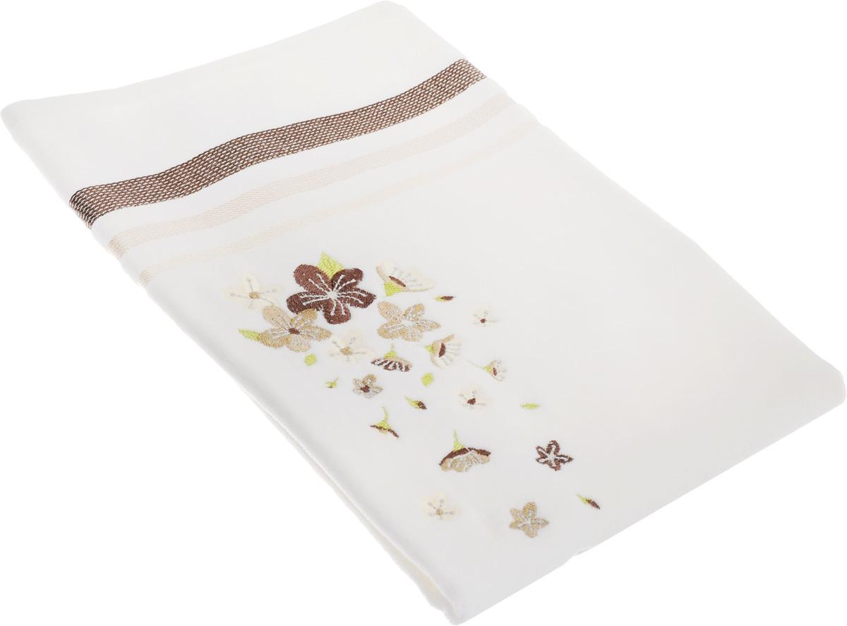 Полотенце махровое TAC Adelia, цвет: белый, бежевый, 50 x 90 см68/5/3Махровое полотенце TAC Adelia выполнено из натуральной махровой ткани (100% хлопок). Изделие отлично впитывает влагу, быстро сохнет, сохраняет яркость цвета и не теряет форму даже после многократных стирок. Полотенце очень практично и неприхотливо в уходе. Такое полотенце прекрасно дополнит интерьер ванной комнаты.Рекомендации по уходу:- режим стирки при 40°C,- допускается деликатная сухая химчистка, - отбеливание запрещено,- глажка при температуре подошвы утюга до 200°С,- рекомендуется щадящий барабанный отжим.