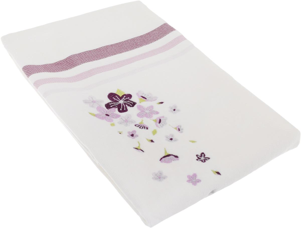 Полотенце махровое TAC Adelia, цвет: белый, сиреневый, 50 x 90 смES-412Махровое полотенце TAC Adelia выполнено из натуральной махровой ткани (100% хлопок). Изделие отлично впитывает влагу, быстро сохнет, сохраняет яркость цвета и не теряет форму даже после многократных стирок. Полотенце очень практично и неприхотливо в уходе. Такое полотенце прекрасно дополнит интерьер ванной комнаты.Рекомендации по уходу:- режим стирки при 40°C,- допускается деликатная сухая химчистка, - отбеливание запрещено,- глажка при температуре подошвы утюга до 200°С,- рекомендуется щадящий барабанный отжим.