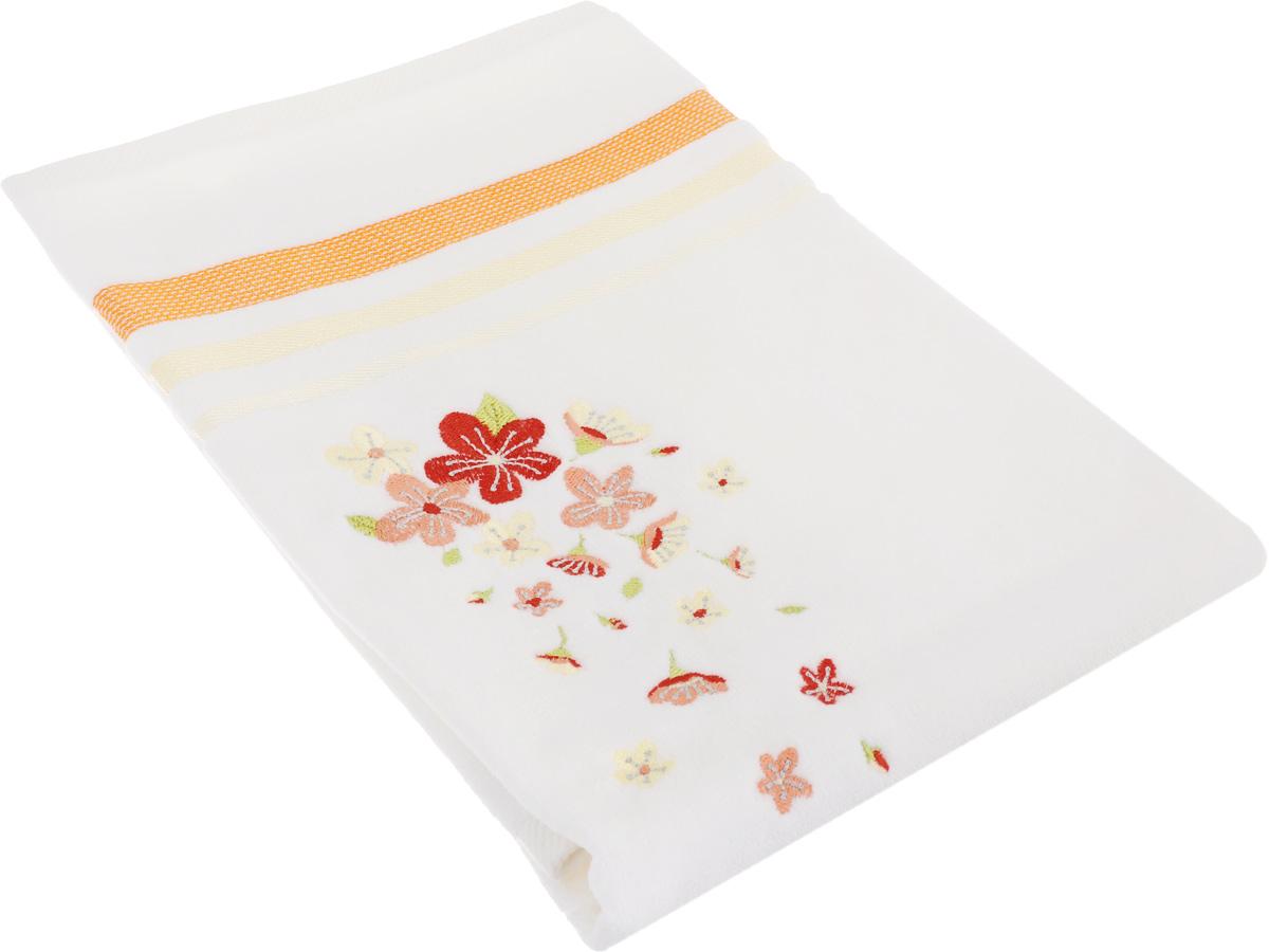 Полотенце махровое TAC Adelia, цвет: белый, оранжевый, 50 x 90 см68/5/1Махровое полотенце TAC Adelia выполнено из натуральной махровой ткани (100% хлопок). Изделие отлично впитывает влагу, быстро сохнет, сохраняет яркость цвета и не теряет форму даже после многократных стирок. Полотенце очень практично и неприхотливо в уходе. Такое полотенце прекрасно дополнит интерьер ванной комнаты.Рекомендации по уходу:- режим стирки при 40°C,- допускается деликатная сухая химчистка, - отбеливание запрещено,- глажка при температуре подошвы утюга до 200°С,- рекомендуется щадящий барабанный отжим.