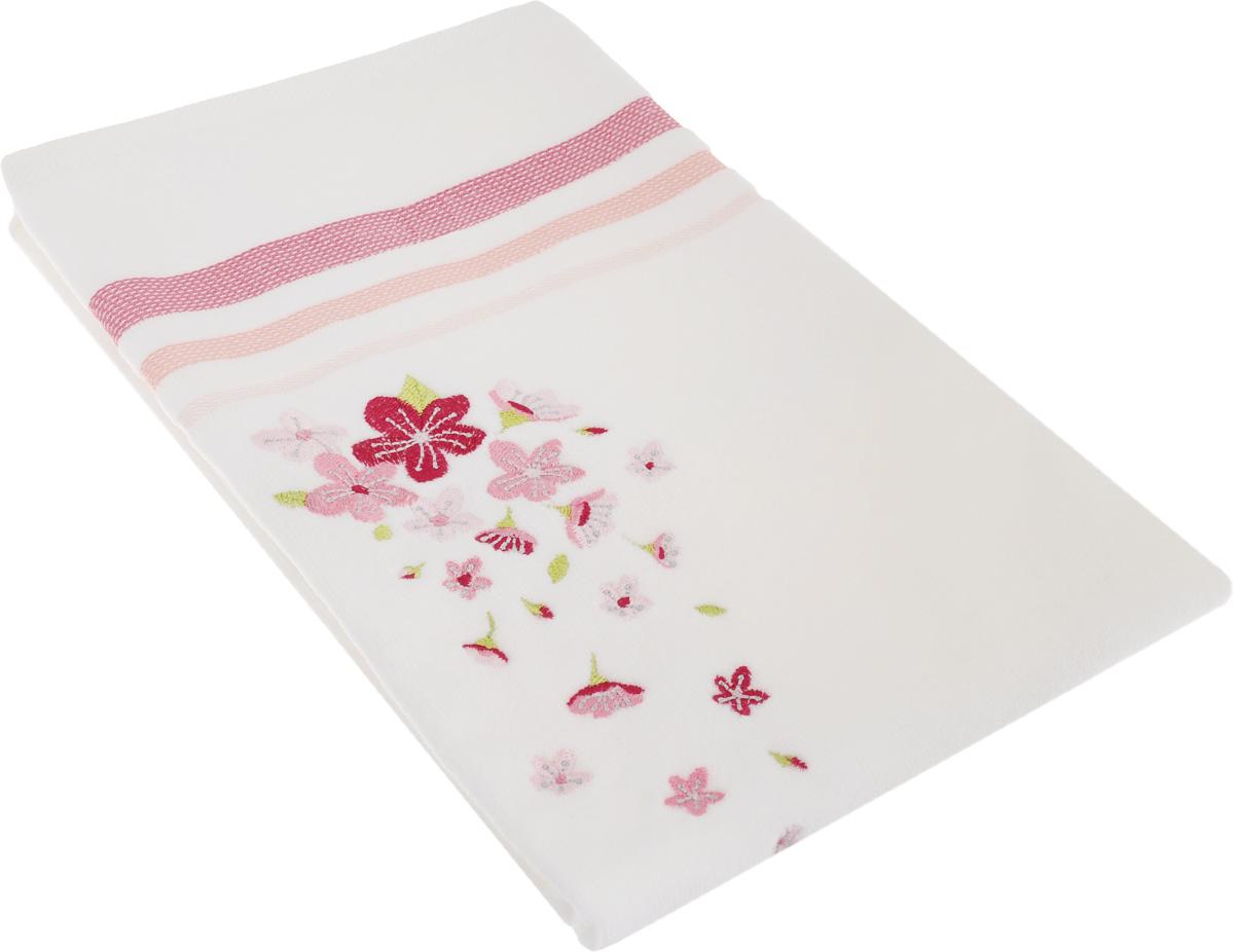 Полотенце махровое TAC Adelia, цвет: белый, розовый, 50 x 90 см68/5/4Махровое полотенце TAC Adelia выполнено из натуральной махровой ткани (100% хлопок). Изделие отлично впитывает влагу, быстро сохнет, сохраняет яркость цвета и не теряет форму даже после многократных стирок. Полотенце очень практично и неприхотливо в уходе. Такое полотенце прекрасно дополнит интерьер ванной комнаты.Рекомендации по уходу:- режим стирки при 40°C,- допускается деликатная сухая химчистка, - отбеливание запрещено,- глажка при температуре подошвы утюга до 200°С,- рекомендуется щадящий барабанный отжим.