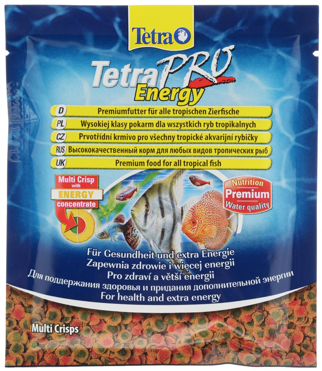 Корм Tetra TetraPro. Energy для всех видов тропических рыб, чипсы, 12 г0120710Полноценный высококачественный корм Tetra TetraPro. Energy для всех видов тропических рыб разработан для поддержания здоровья и придания дополнительной энергии. Особенности Tetra TetraPro. Energy:- щадящая низкотемпературная технология изготовления обеспечивает высокую питательную ценность и стабильность витаминов;- энергетический концентрат для дополнительной энергии;- инновационная форма чипсов для минимального загрязнения воды отходами;- легкое кормление. Рекомендации по кормлению: кормить несколько раз в день маленькими порциями. Состав: рыба и побочные рыбные продукты, зерновые культуры, экстракты растительного белка, дрожжи, моллюски и раки, масла и жиры, водоросли, сахар.Аналитические компоненты: сырой белок - 46%, сырые масла и жиры - 12%, сырая клетчатка - 2,0%, влага - 9%.Добавки: витамины, провитамины и химические вещества с аналогичным воздействием: витамин А 29880 МЕ/кг, витамин Д3 1865 МЕ/кг, Л-карнитин 123 мг/кг. Комбинации элементов: Е5 Марганец 67 мг/кг, Е6 Цинк 40 мг/кг, Е1 Железо 26 мг/кг, Е3 Кобальт 0,6 мг/кг. Красители, консерванты, антиоксиданты. Товар сертифицирован.